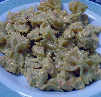Farfalle gamberi e curry
