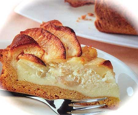 Crostata di mele con crema mascarpone