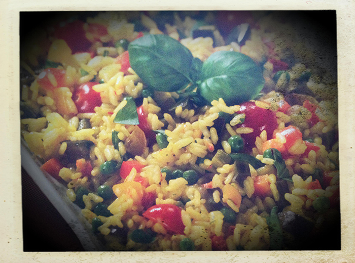 paella verdure bimby