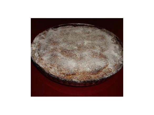 Crostata con farina di castagne, pere e cioccolatofuso